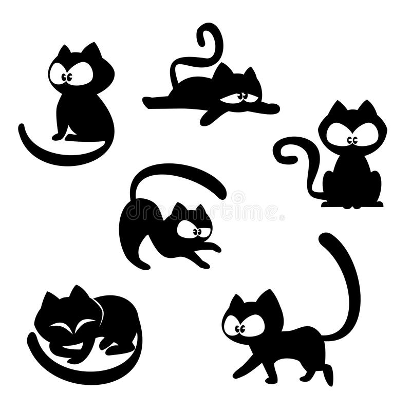 Chats drôles illustration stock