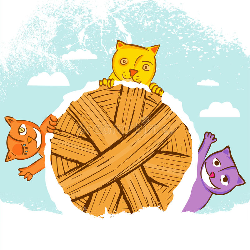 Chats mignons illustration libre de droits