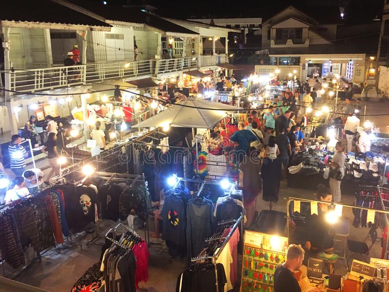 Chatsila Night Market at Hua Hin, Thailand royalty free stock image