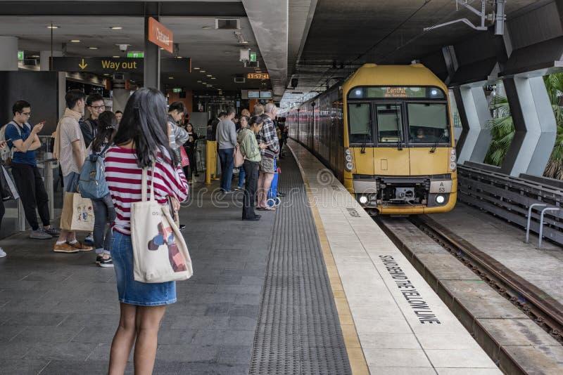 Chatswood火车站,悉尼澳大利亚 库存照片