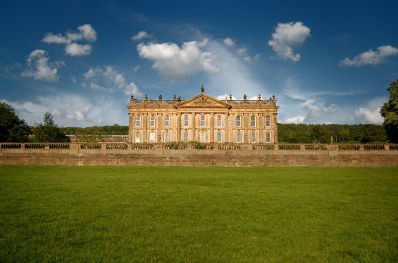 chatsworth英国房子 库存照片
