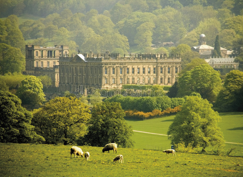 chatsworth Derbyshire England dom fotografia stock