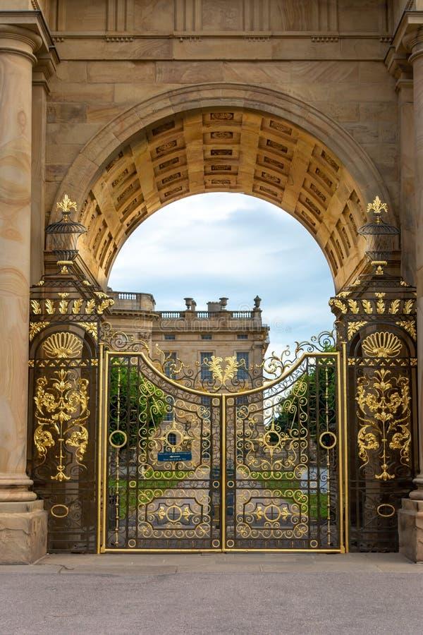 Chatsworth House History: England Derbyshire Chatsworth House Stock Photo
