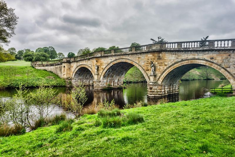 Chatsworth House Bridge royalty free stock photos