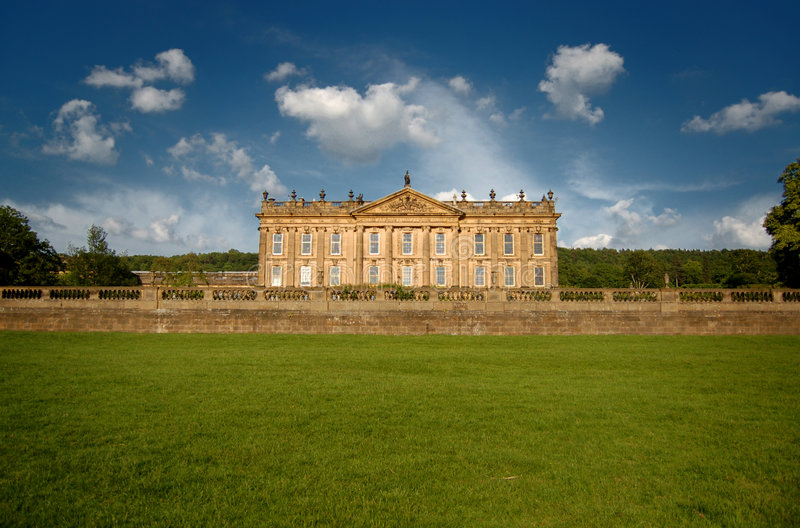 Chatsworth house in England stock photo