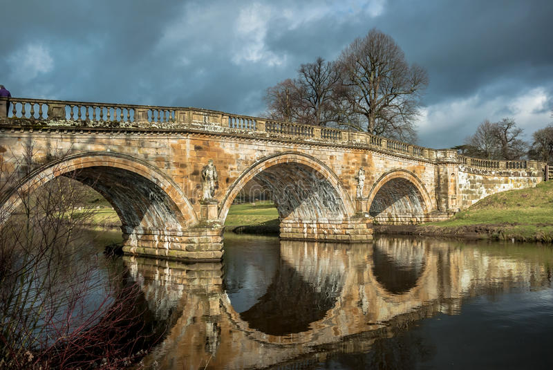 Chatsworthbrug royalty-vrije stock afbeelding
