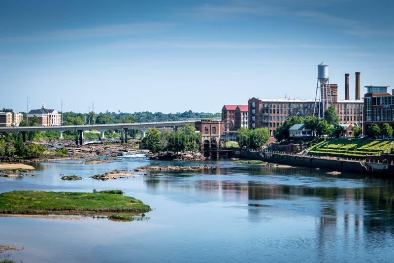 Chattahoochee Riverwalk in Columbus, GA stock images