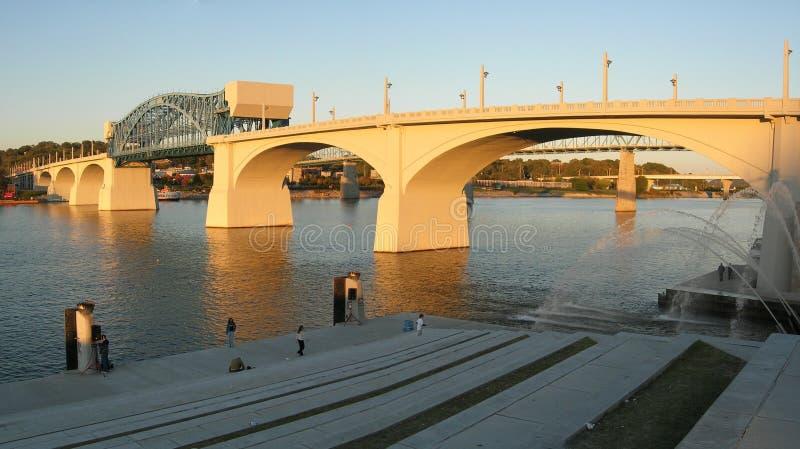 Chattanooga bro royaltyfria foton