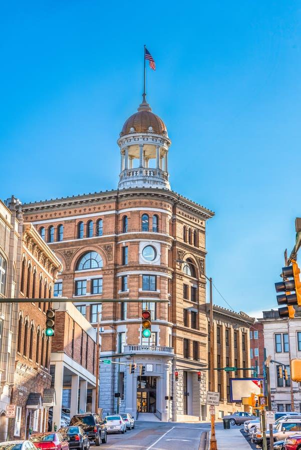 Chattanooga do centro Tennessee Dome Building fotografia de stock