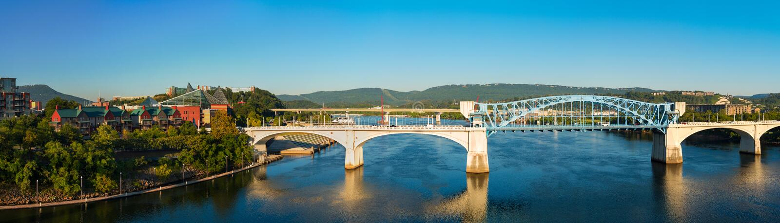 Chattanooga panorama obrazy royalty free
