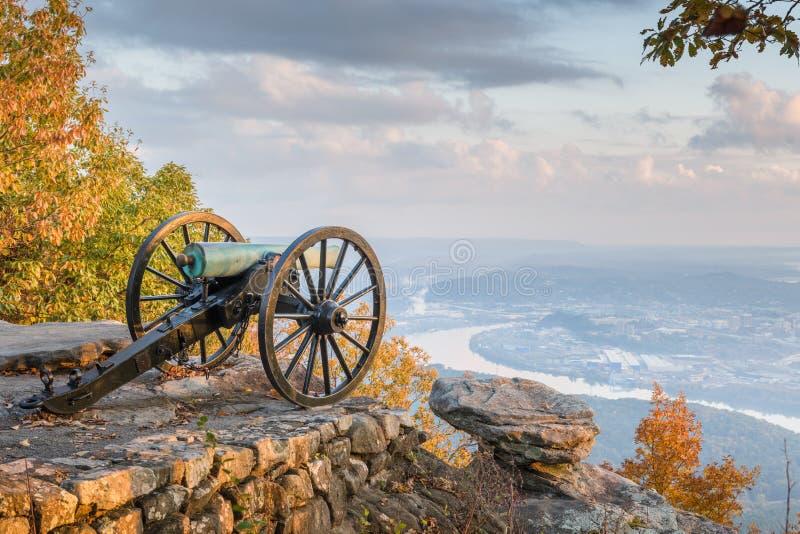 Chattanooga, Tennessee, EUA, vista da Lookout Mountain fotografia de stock royalty free