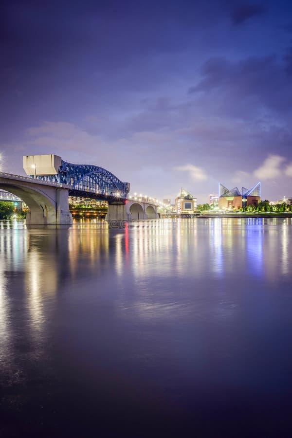 Chattanooga, Tennessee linia horyzontu zdjęcie stock