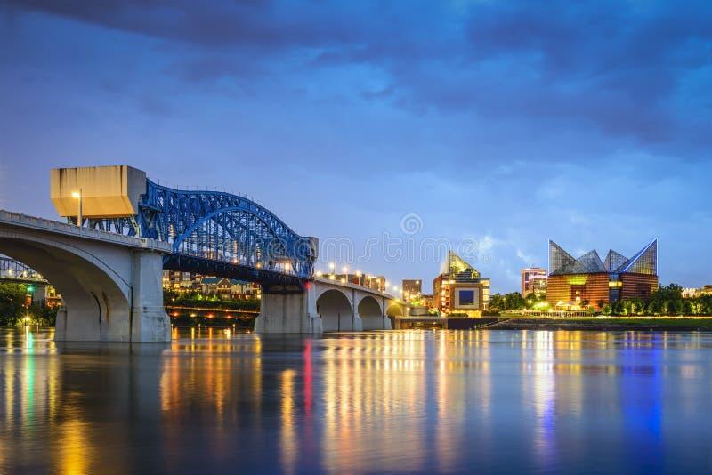 Chattanooga, Tennessee linia horyzontu obraz royalty free
