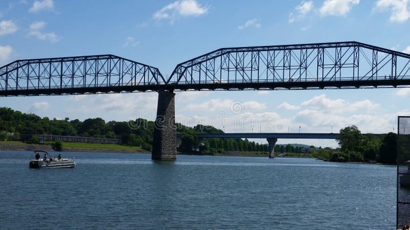 Chattanooga Tennessee most nad rzeką obraz royalty free