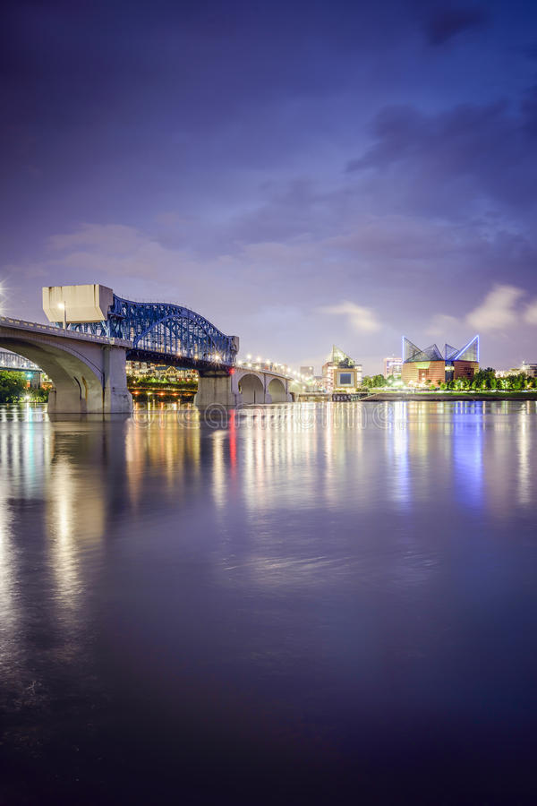 Chattanooga Tennessee Skyline arkivfoto
