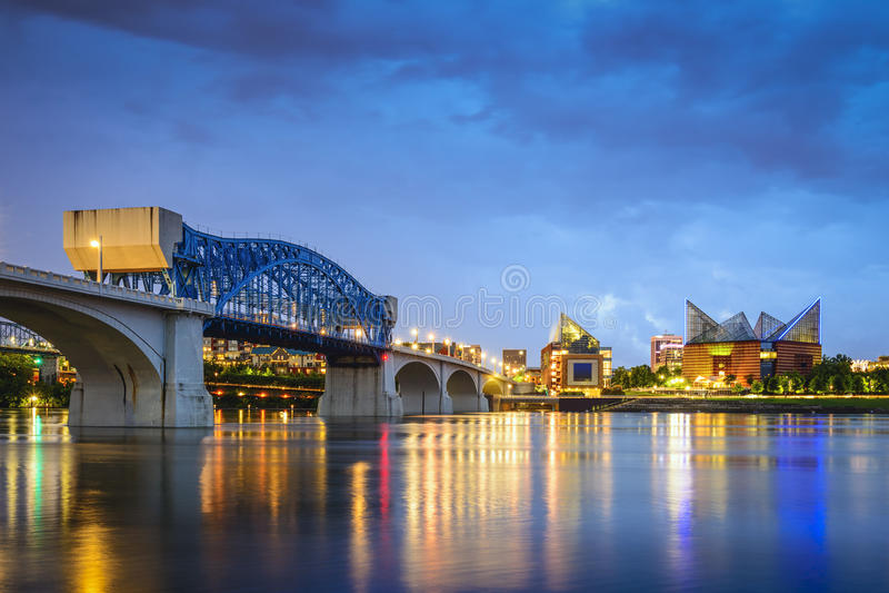 Chattanooga Tennessee Skyline royaltyfri bild