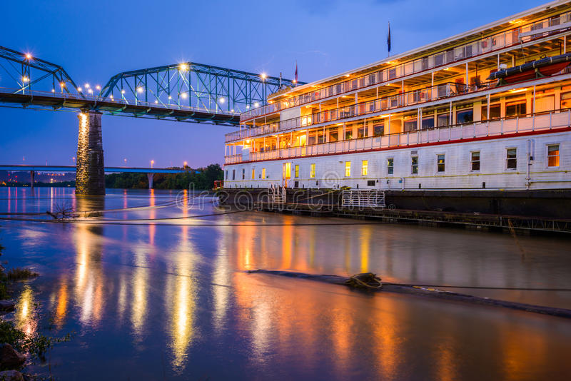 Chattanooga, Tennessee, USA Riverfront. And steamboat royalty free stock photo