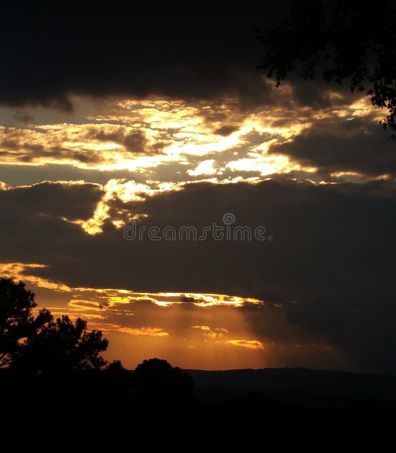 Chattanooga TN-himmel royaltyfria bilder