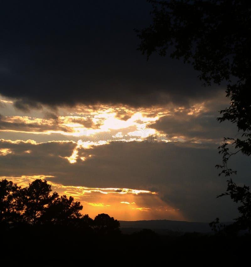 Chattanooga TN-himmel fotografering för bildbyråer