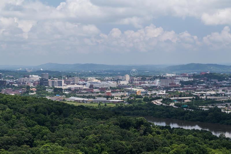 Chattanooga, TN/USA - circa luglio 2015: Vista di Chattanooga, Tennessee fotografia stock