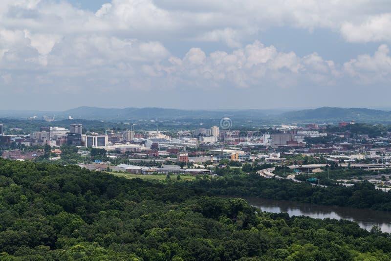 Chattanooga, TN/USA - około Lipiec 2015: Widok Chattanooga, Tennessee fotografia stock
