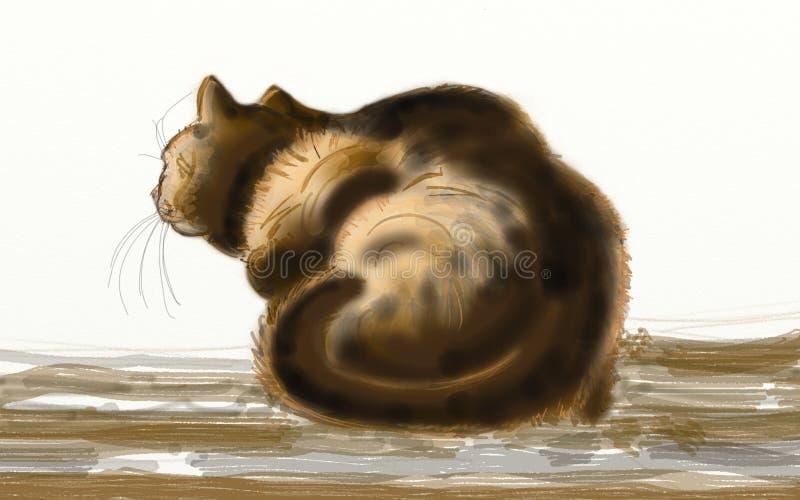 chatte vue de dos image stock