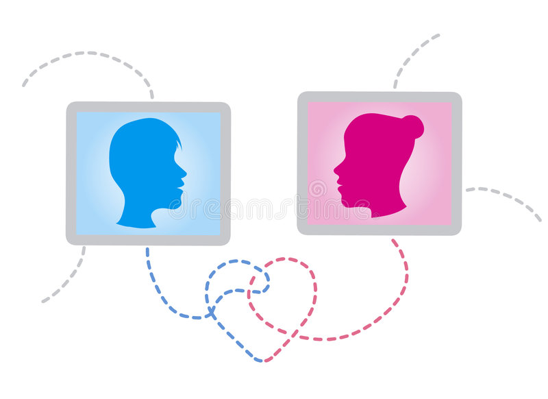 Download Chatter in love stock vector. Image of flirt, network - 4317653