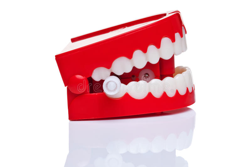 Chattering teeth stock images