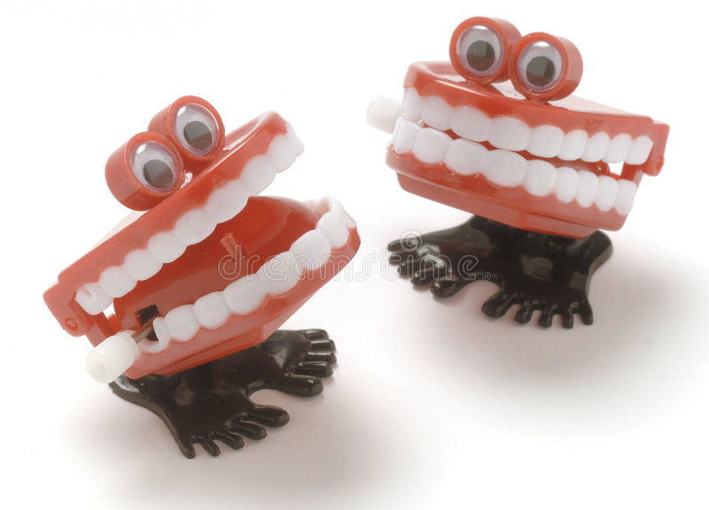 Chattering teeth royalty free stock photos