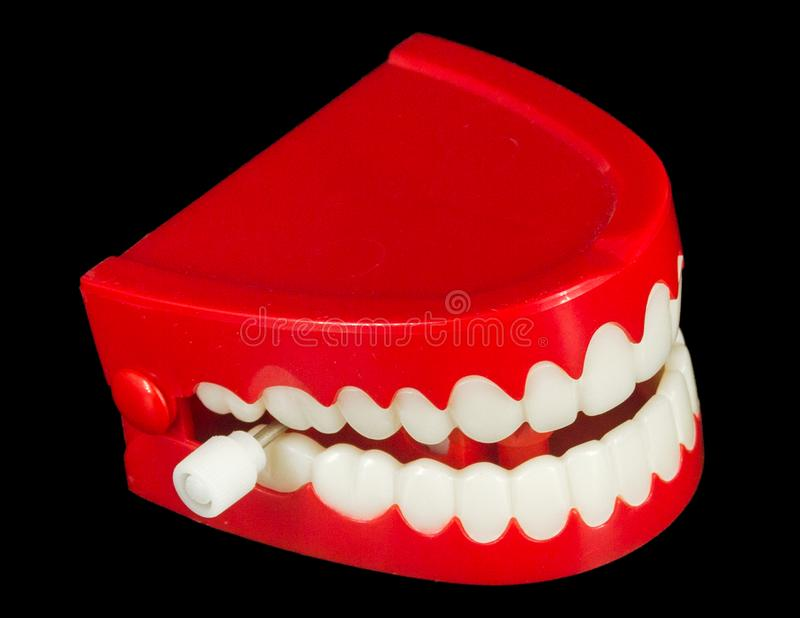 Chattering Zähne lizenzfreies stockfoto