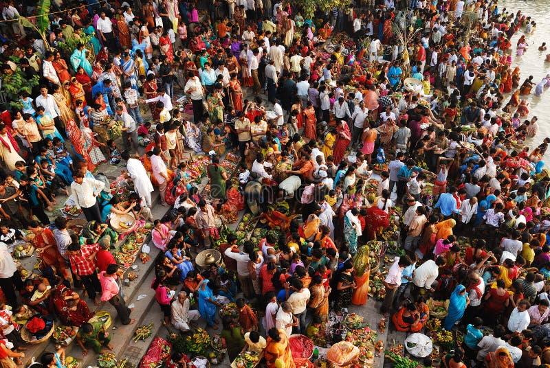 chattfestival india arkivbilder