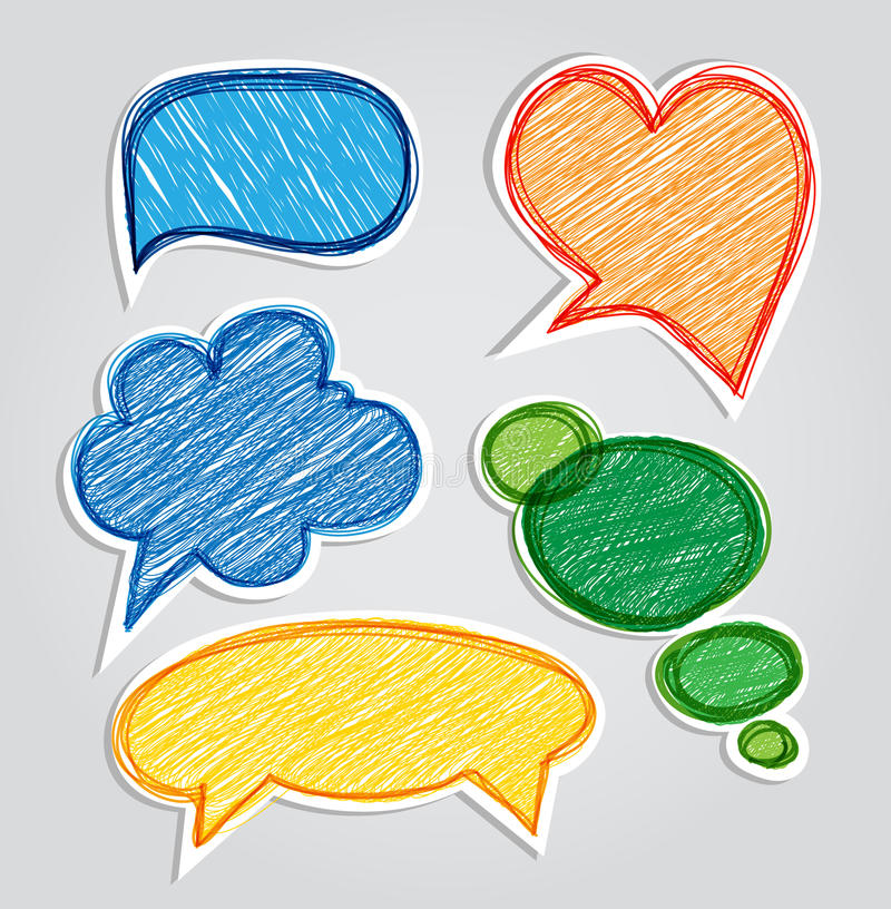 Download Chatting clouds set stock vector. Illustration of message - 22009114
