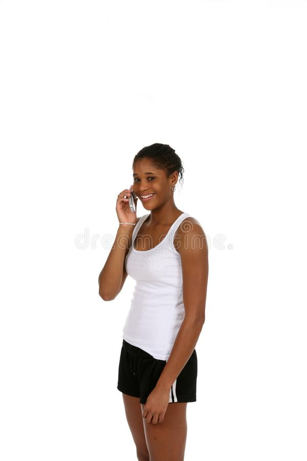 Chatting Teen in Sports Wear stock photography