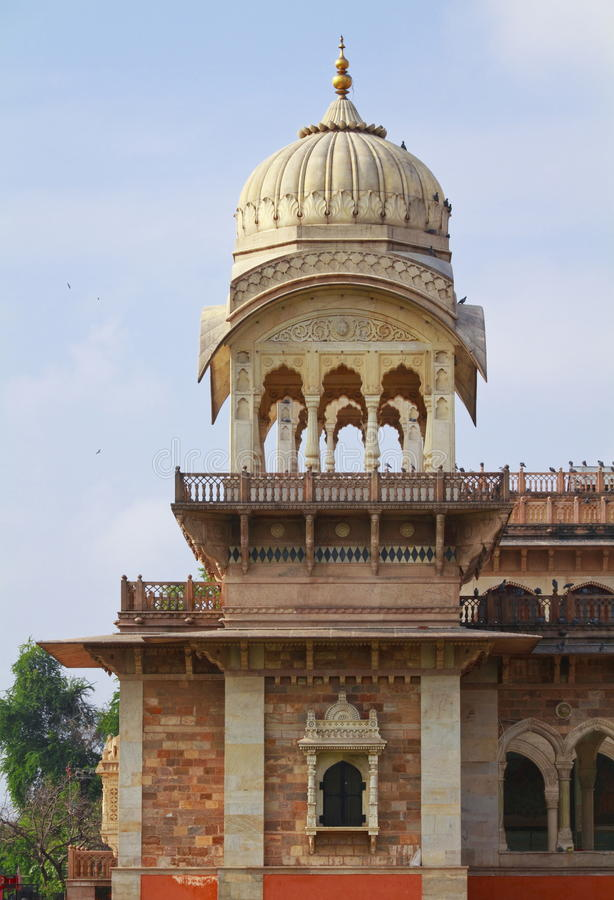 Chattris Albert Hall Museum. Beautiful architecture of Albert Hall Museum,Jaipur,Rajasthan. Albert Hall Museum is the oldest museum of the state.The building was stock image
