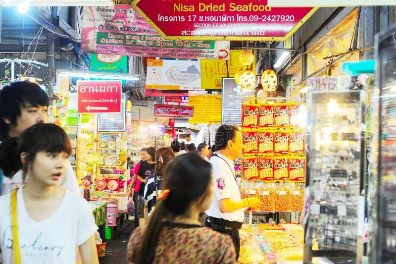 Chatuchak marknad Bangkok som är thailändsk arkivfoton