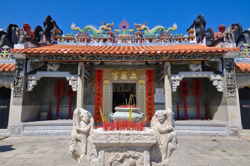 chau cheung香港朴tai寺庙 库存照片