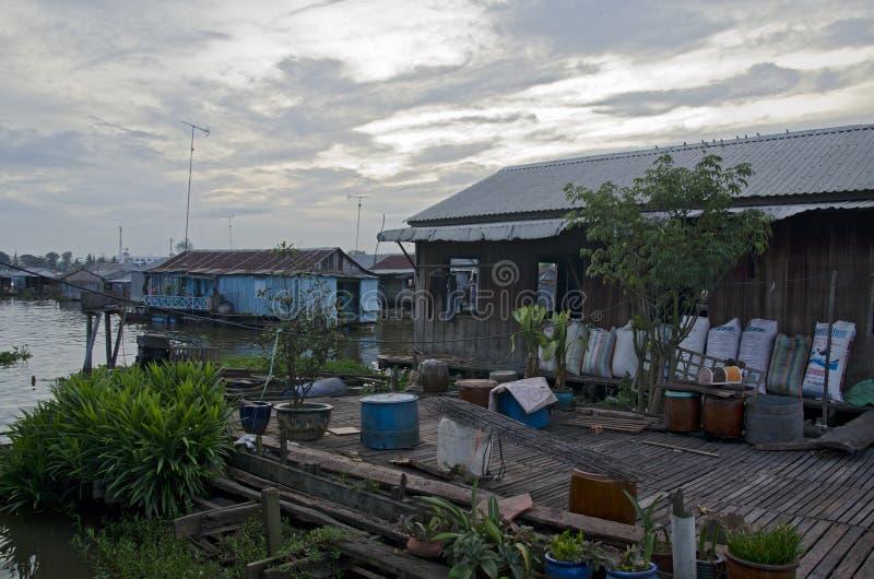 Chau Doc浮动村庄2 免版税库存照片