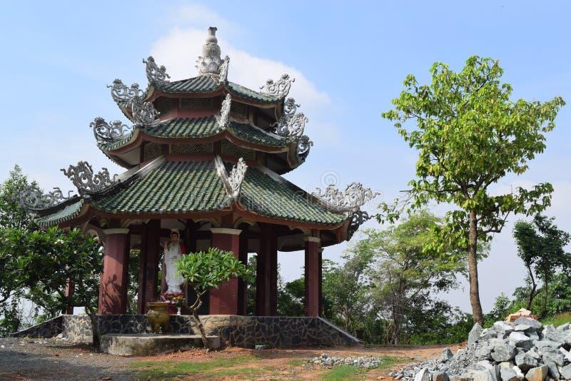 Chau Thoi tempel i det Binh Duong landskapet, Vietnam royaltyfria foton