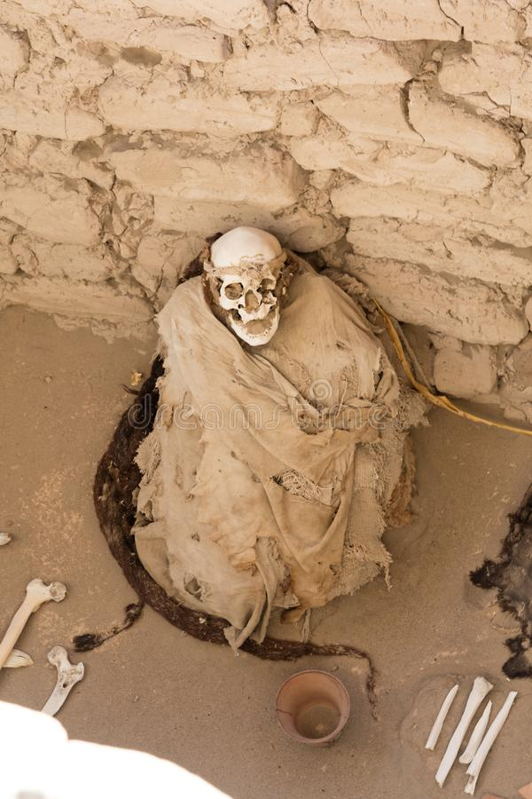 Chauchilla nekropol, Peru royaltyfri foto