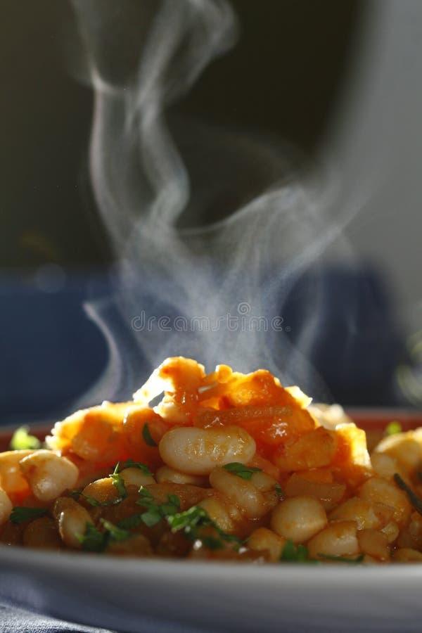 Chaud, cuisant le repas à la vapeur photos libres de droits