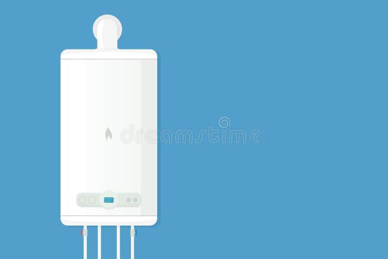 Chaudière de gaz à la maison de vecteur illustration de vecteur