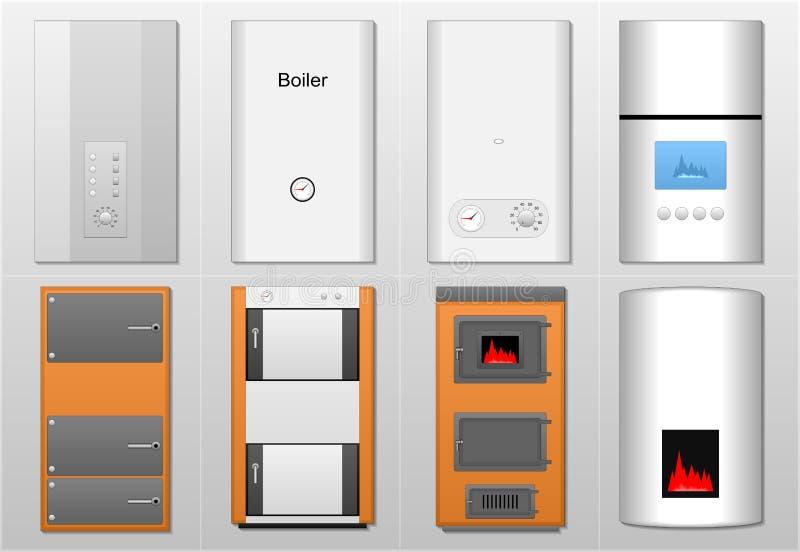 Chaudières, appareils de chauffage images libres de droits