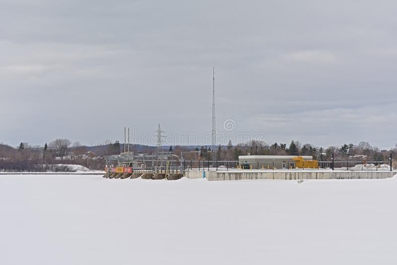 Chaudiere cade idro centrale elettrica, Ottawa fotografia stock libera da diritti