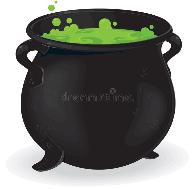 Chaudron de sorcière illustration de vecteur