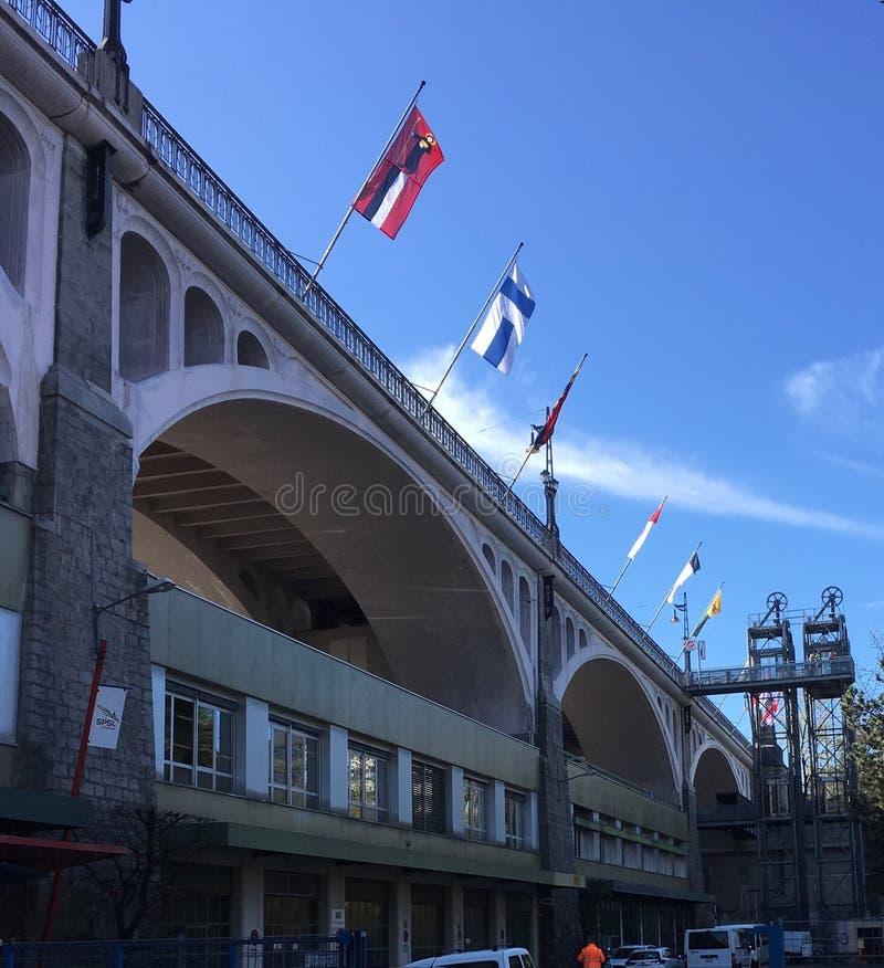 Chaudron mosta Szwajcaria piękna ziemia fotografia royalty free