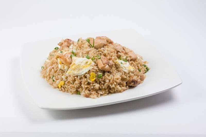 chaufa Peruano-chinês do arroz ou do arroz foto de stock