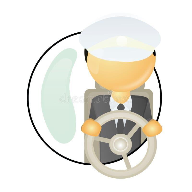 chaufför vektor illustrationer