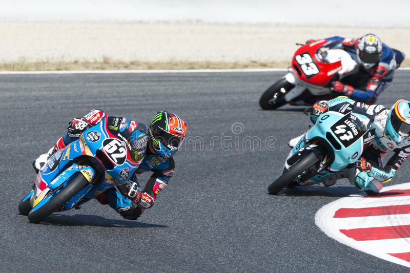 Chaufför Alcoba Ferrer, Jeremy Moto3 Junior Team Estrella Galicia arkivbild