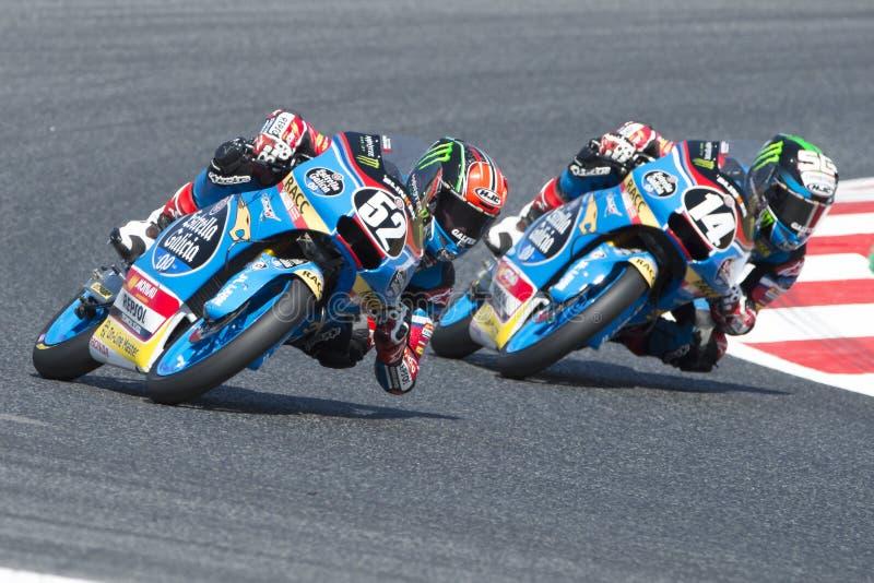 Chaufför Alcoba Ferrer, Jeremy Moto3 Junior Team Estrella Galicia royaltyfria foton