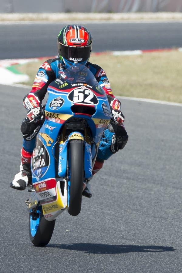 Chaufför Alcoba Ferrer, Jeremy Moto3 Junior Team Estrella Galicia fotografering för bildbyråer